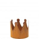 Metall Krone Leo, Durchmesser 15cm, Höhe 14cm, ros